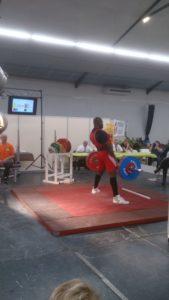 soulevé de terre à 255kg à la finale des championnats de France